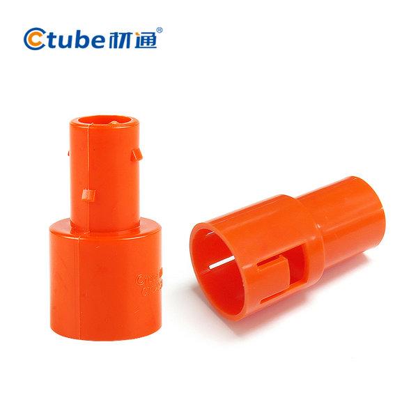 材通PVC波纹管连接件20mm_电工穿线软管连接器_4分塑料波纹管接头