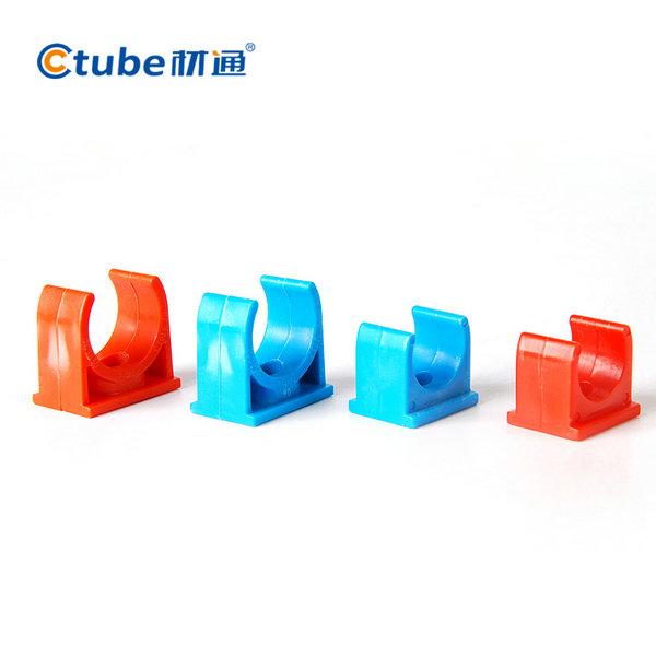 PVC红蓝穿万博manbetx官网主页配件多管成排连排管夹 东莞材通实业有限公司